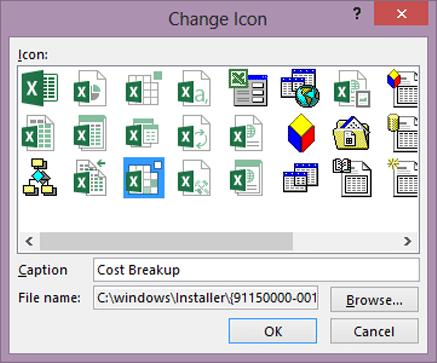 Change display icon
