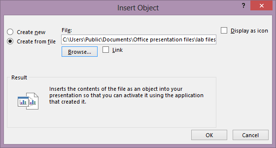 How to Insert Object
