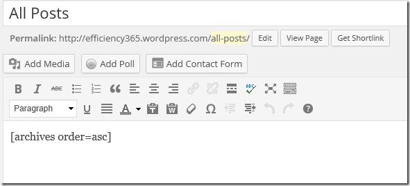 WordPress archives