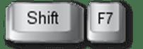 thesaurus shortcut Shift F7