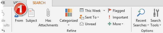 smart searching in outlook
