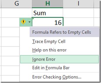 cell error