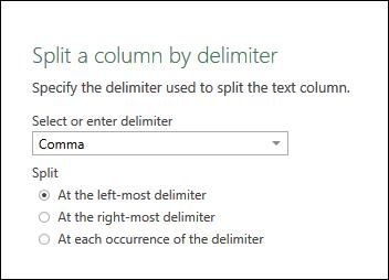 comma delimiter