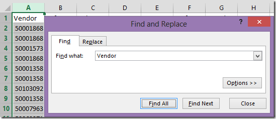 find replace