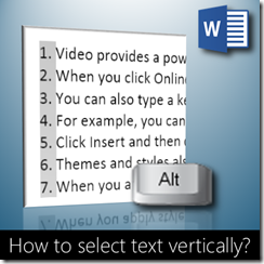Vertical selection in Word - Dr. Nitin Paranjape