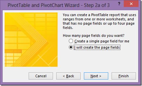 Pivot Table step 2