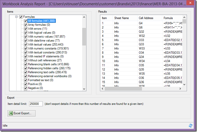 analysis report: inquire tool