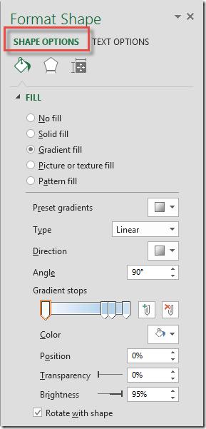 gradient dialogue box