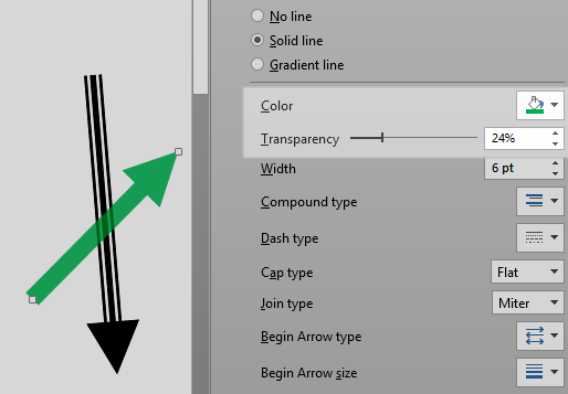how to make shapes transparent in PowerPoint
