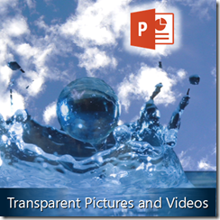 how to make transparent pictures and videos in PowerPoint