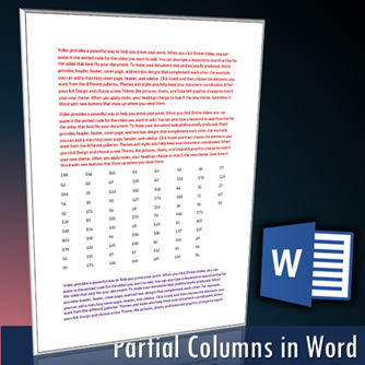 Word sections - continuous section break - Dr. Nitin Paranjape