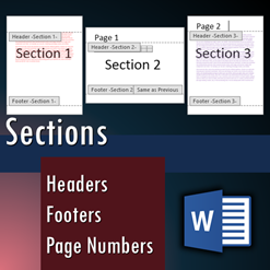 Word sections - Headers and footers - Dr. Nitin Paranjape