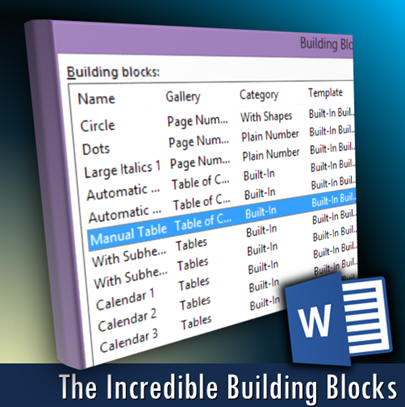 building blocks in Word - the ultimate reuse engine - Dr. Nitin Paranjape