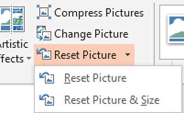 Reset picture dropdown