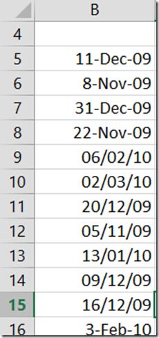 Efficiency Test - Excel date cleanup