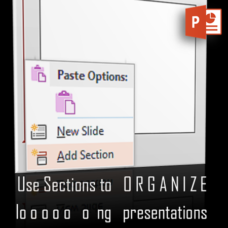 PowerPoint Sections poster