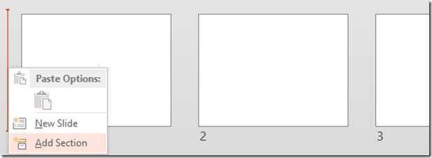 How to add PowerPoint Sections