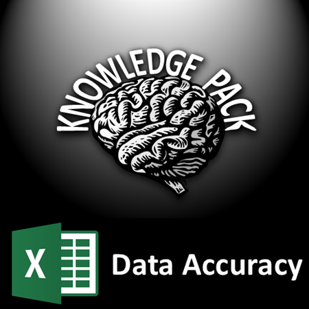 Excel data accuracy knowledge pack