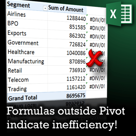 add formulas outside Pivot Tables