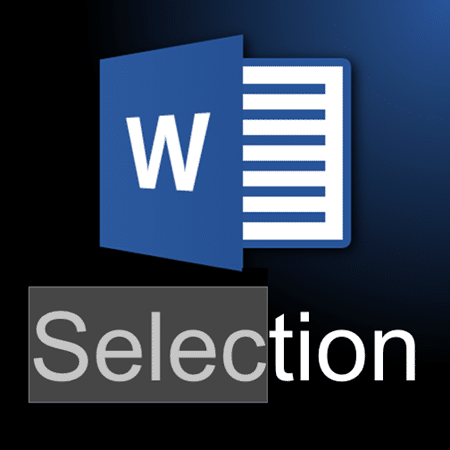 How to select things in Word
