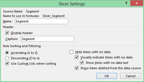 Slicer settings