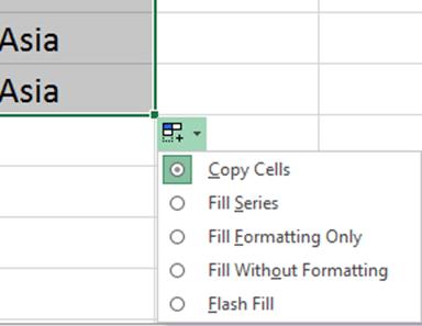 Excel copy cells