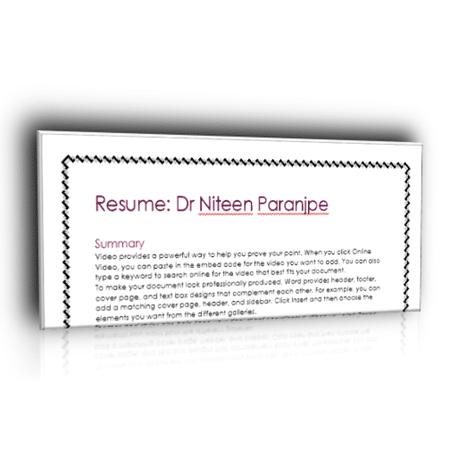 how to hide spelling mistakes in your resume by Dr. Nitin Paranjape