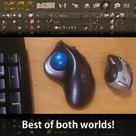 Use Mouse and Trackball together