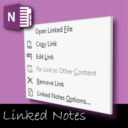 manage linked notes in OneNote