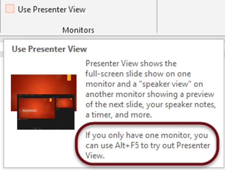 PowerPoint 2013 Presenter View