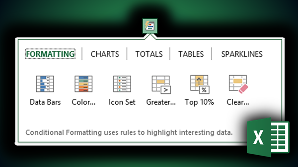 Analysis in Excel