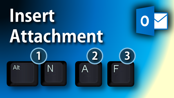 insert attachment shortcut
