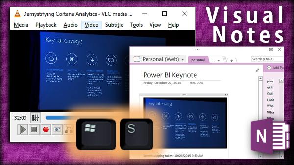 OneNote visual notes shortcut