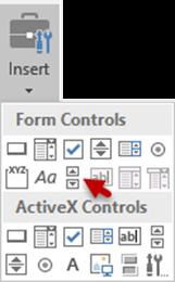 Excel Scroll Bar