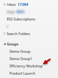 How to find Office 365 groups in Outlook Inbox