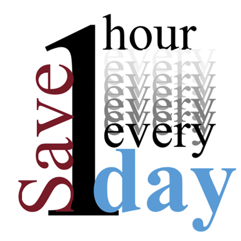 Save 1 hour every day