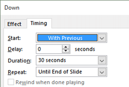 Delay and Repeat settings