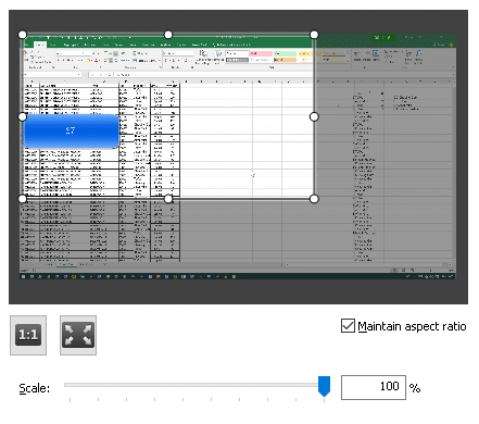Scaling to best resolution