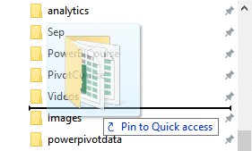 Drag Drop to add folders to Quick Access