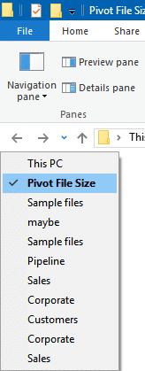 Quick Folder Navigation
