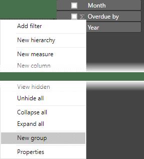 New Group menu option