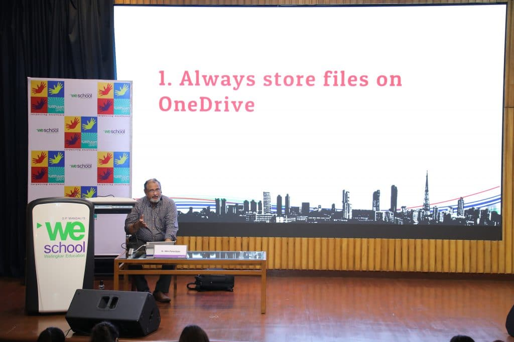 Dr Nitin delivering the session at WeSchool, Mumbai
