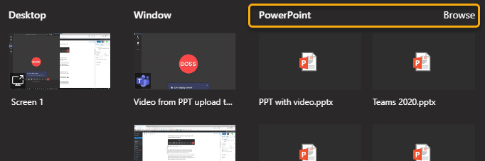 Choose presentation to upload - best way to conduct Teams presentation on slow internet