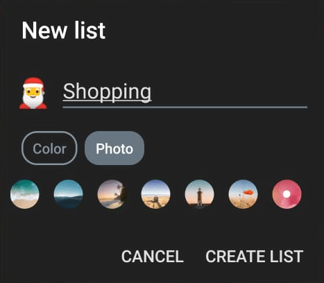 New list creation in Microsoft To Do app