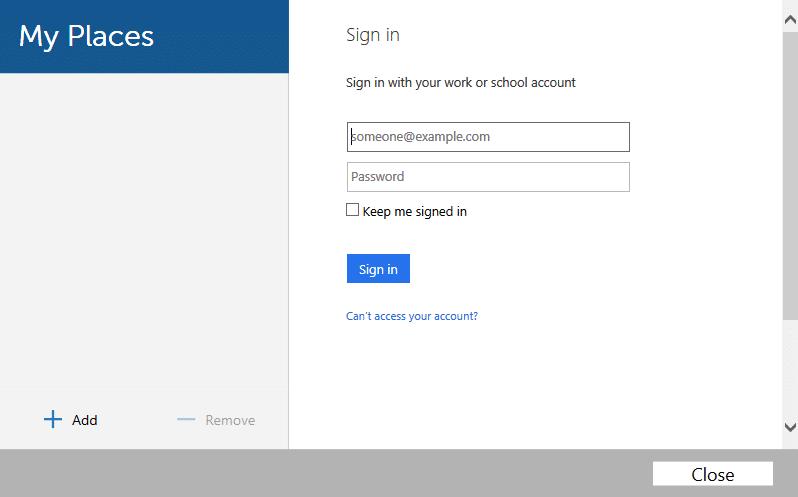 OneDrive login